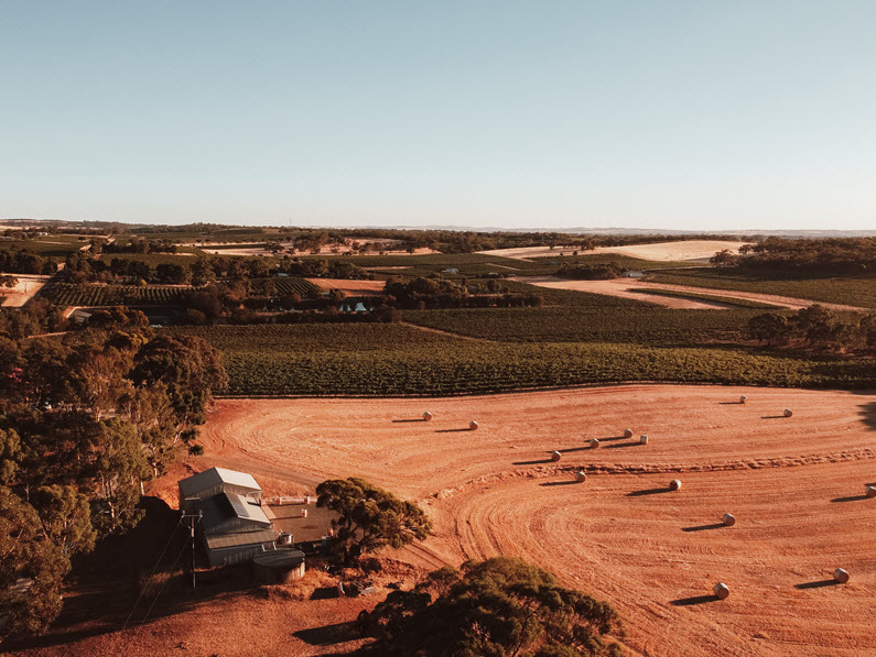 The Cutting - aeral view Barossa Valley